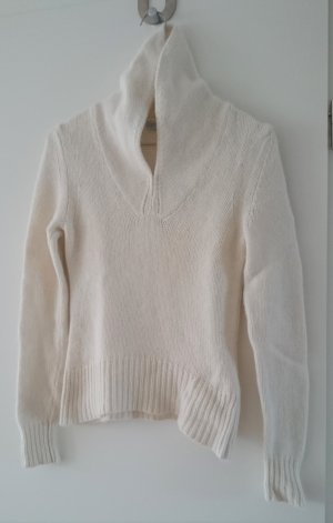 Strenesse Pullover Wollpulover Wolle Angora Creme Weiß Gr. XS
