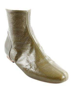 Strenesse Reißverschluss-Stiefeletten grüngrau Casual-Look