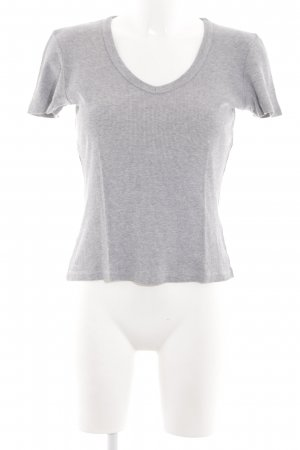 Strenesse Ribbed Shirt light grey flecked casual look