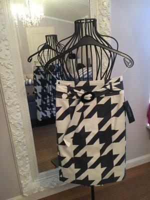 Strenesse Gabriele Strehle Falda de tubo blanco puro-negro Algodón
