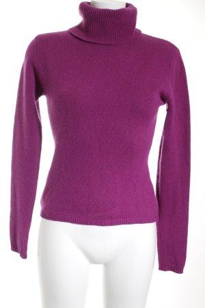 Strenesse Rollkragenpullover violett Casual-Look