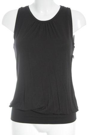 Strenesse Rückenfreie Top schwarz schlichter Stil