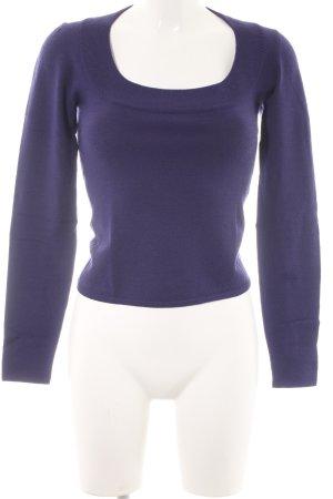 Strenesse Jersey de cuello redondo violeta oscuro look casual
