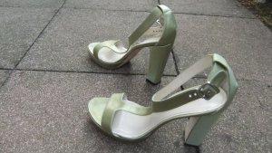 Strenesse Sandalo con plateau verde prato Seta