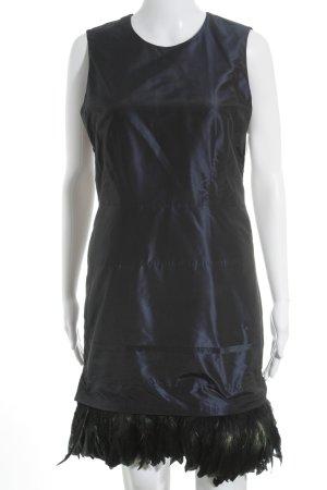 Strenesse schulterfreies Kleid dunkelblau Ethno-Look