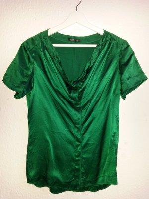 Strenesse Glanzende blouse bos Groen
