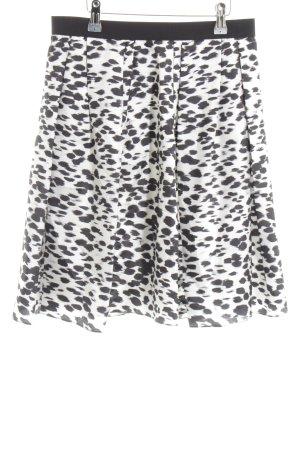 Strenesse Silk Skirt white-black allover print elegant