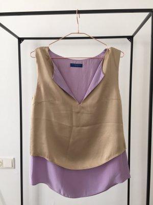 Blue Strenesse Mode paars-zandig bruin Zijde
