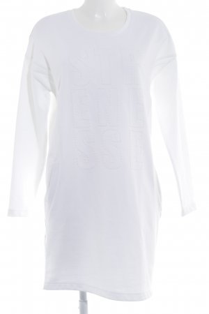 Strenesse Shirt Dress natural white embroidered lettering casual look