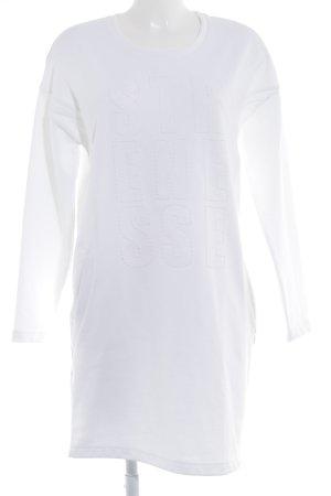 Strenesse Robe t-shirt blanc cassé lettrage brodé style décontracté