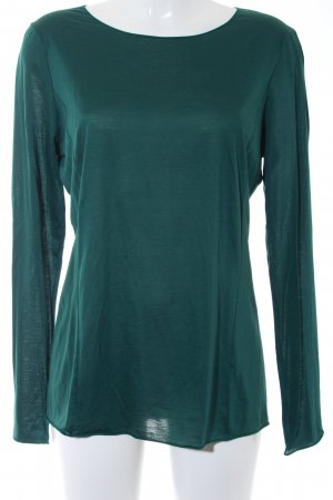 Strenesse Stand-Up Collar Blouse forest green casual look