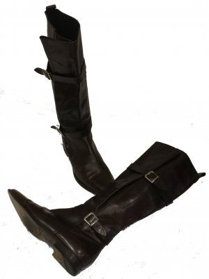 Strenesse Gabriele Strehle Riding Boots dark brown leather