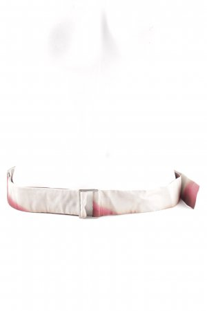 Strenesse Fabric Belt natural white-red color gradient casual look