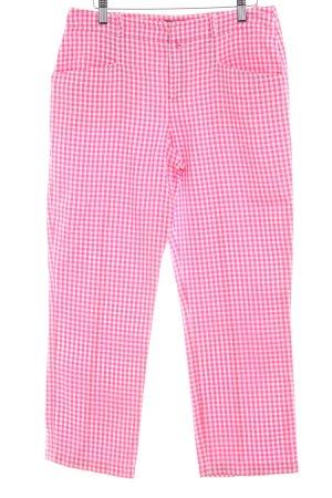 Strenesse Stoffhose pink-weiß Karomuster Casual-Look