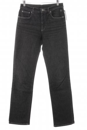 Strenesse Straight-Leg Jeans dunkelgrau Logo-Applikation