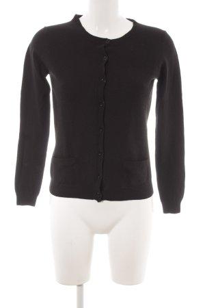 Strenesse Strick Cardigan schwarz minimalistischer Stil