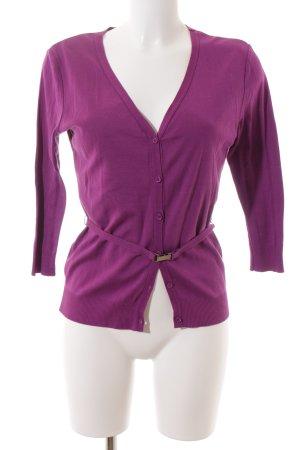 Strenesse Strickjacke violett klassischer Stil
