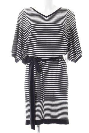 Strenesse Strickkleid schwarz-weiß Streifenmuster Casual-Look