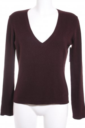 Strenesse Strickpullover bordeauxrot Casual-Look