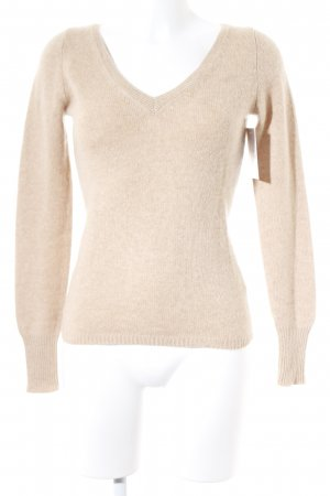 Strenesse Strickpullover hellbraun Casual-Look