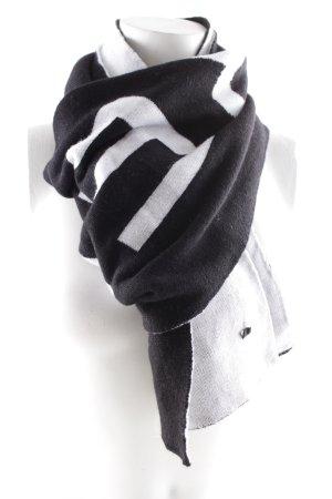 Strenesse Gebreide sjaal zwart-wit casual uitstraling