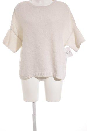 Strenesse Strickshirt creme Lochstrickmuster Casual-Look