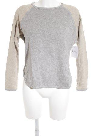 Strenesse Sweatshirt grau-creme Casual-Look