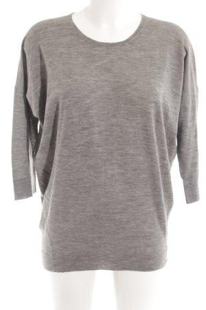 Strenesse Sweatshirt grau-hellgrau meliert Casual-Look