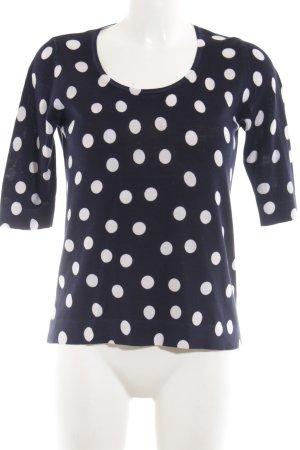 Strenesse Sweatshirt weiß-schwarz Punktemuster Casual-Look