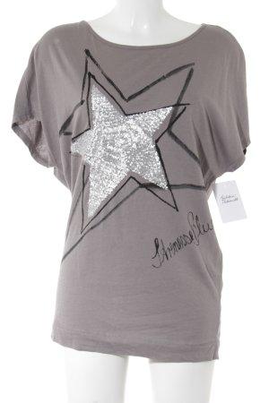 Strenesse T-Shirt blasslila Motivdruck Casual-Look