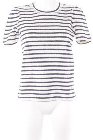 Strenesse Camiseta gris pizarra-blanco puro estampado a rayas estilo clásico
