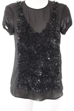 Strenesse T-Shirt schwarz extravaganter Stil
