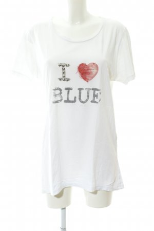 Strenesse T-Shirt wollweiß Motivdruck Casual-Look