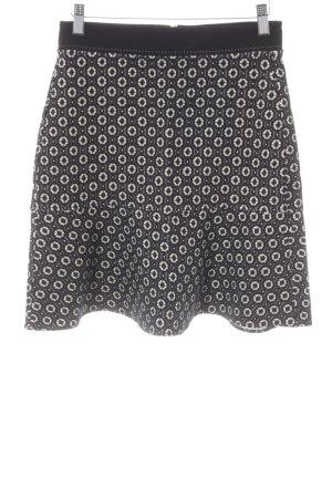Strenesse Tellerrock schwarz-weiß grafisches Muster Elegant