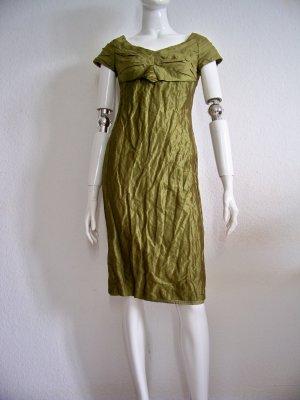 Strenesse Traum feminines raffiniertes Etui Kleid grün Seide, 34