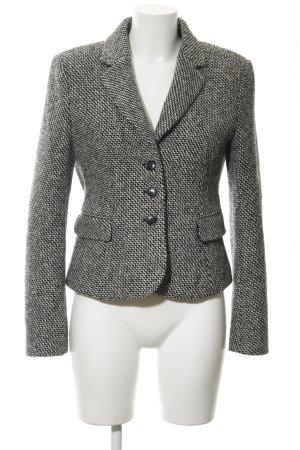 Strenesse Tweed blazer zwart-wit abstract patroon casual uitstraling