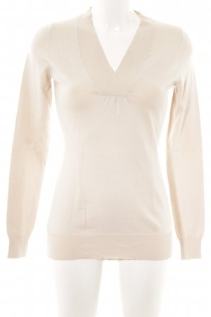 Strenesse V-Ausschnitt-Pullover creme Casual-Look