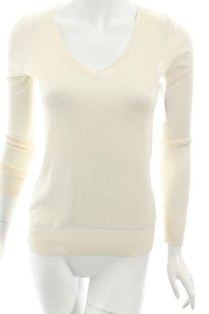 Strenesse V-Ausschnitt-Pullover blasslila Casual-Look