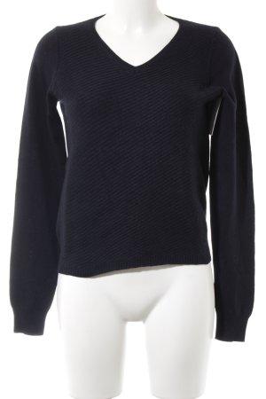 Strenesse V-Ausschnitt-Pullover dunkelblau Casual-Look