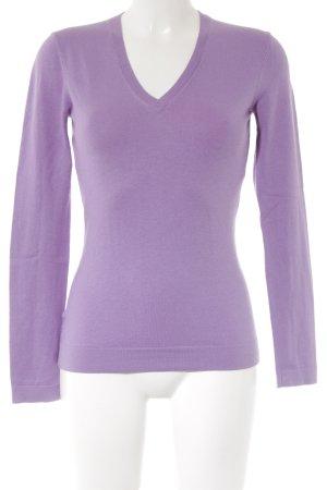 Strenesse V-Ausschnitt-Pullover flieder Casual-Look