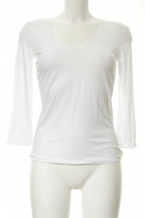 Strenesse V-hals shirt wit casual uitstraling