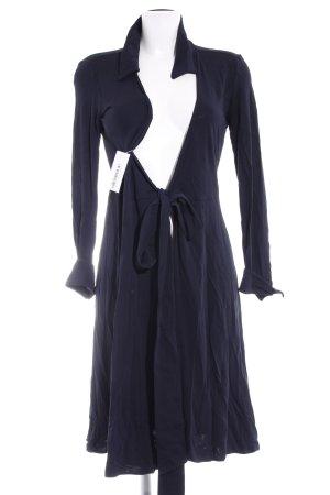 Strenesse Vestido cruzado azul oscuro look casual