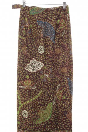 Strenesse Wraparound Skirt abstract pattern casual look