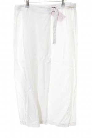 Strenesse Wraparound Skirt white simple style