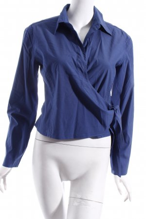 Strenesse Wickelshirt blau Wickel-Look