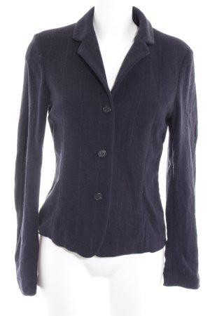 Strenesse Woll-Blazer dunkelblau Streifenmuster Business-Look
