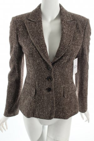 Strenesse Wool Blazer dark brown-cream business style