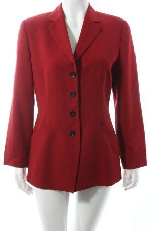 Strenesse Blazer de lana rojo oscuro estilo clásico