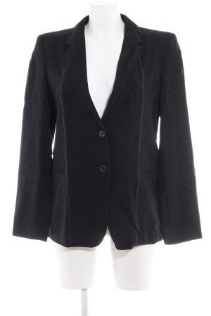Strenesse Blazer in lana nero gessato stile professionale