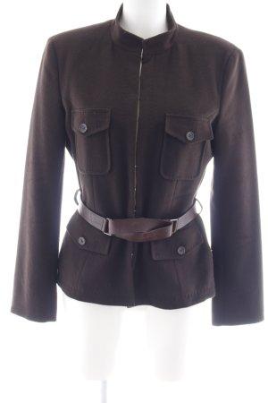 Strenesse Chaqueta de lana marrón oscuro look casual
